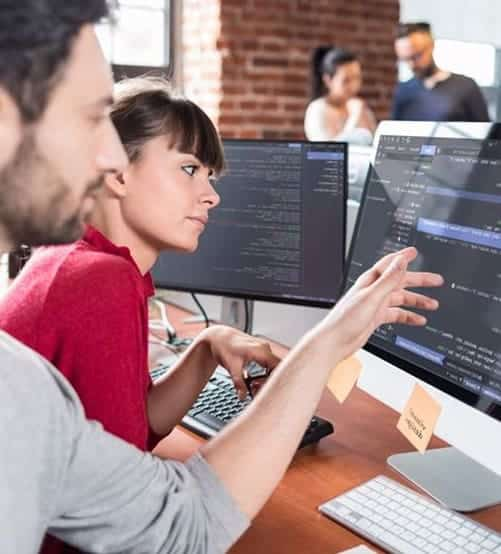 Coding boy and girl
